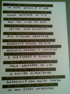 poema en braille